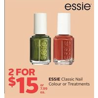 Essie Classic Nail Colour or Treatments