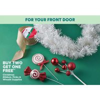 Christmas Ribbon, Picks & Wreath Supplies