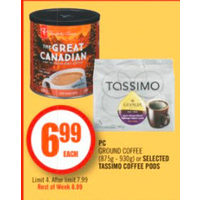 PC Ground Coffee Or Tassimo Coffee Pods