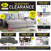 Leon's - Inventory Clearance Flyer