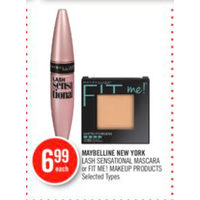 Maybelline New York Lash Sensational Mascara Or Fit Me! Makeup Products
