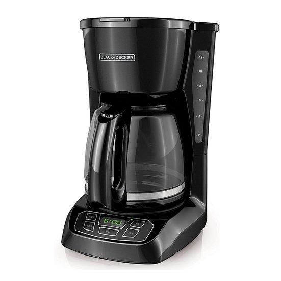 2. Runner Up: Black + Decker 12-Cup Programmable Coffee Maker