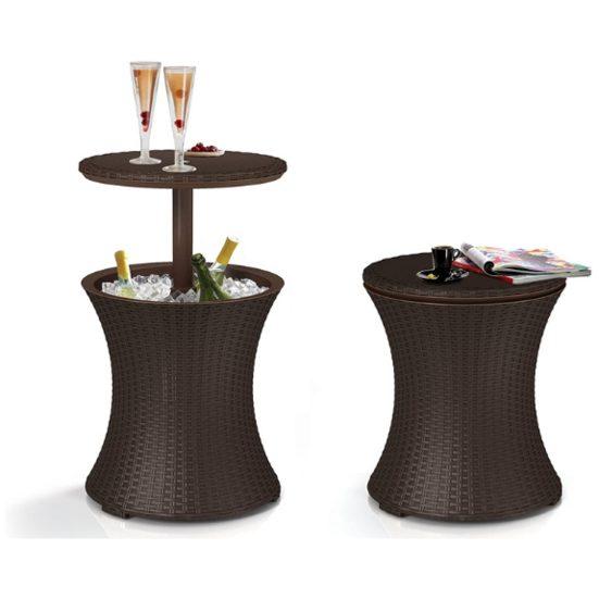3. For Backyard Parties: Keter Rattan Cool Bar