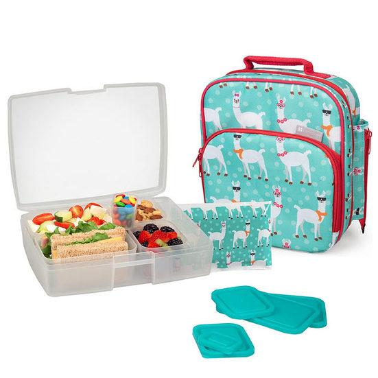 2. Runner Up: Bentology Lunch Bag and Box Set, Llama