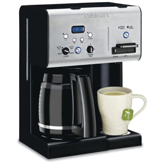 7. Best 2-in-1: Cuisinart CHW-12C 12 Cup Programmable Coffeemaker And Hot Water System
