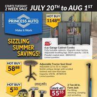 Princess Auto - 2 Weeks of Savings - Sizzling Summer Savings! Flyer