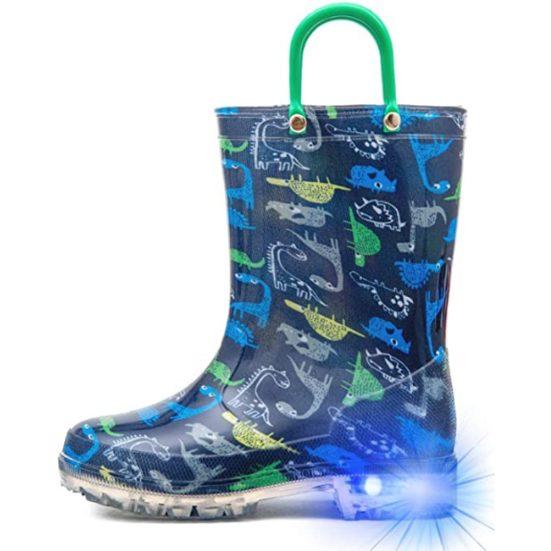 8. Best Light Up Boots: Hugrain Light Up Rain Boots