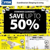 JYSK - Weekly Deals - Storewide Clearance! Flyer