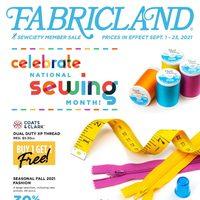 Fabricland - Sewcity Member Sale Flyer