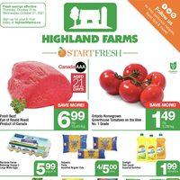 Highland Farms - Weekly Specials - Start Fresh Flyer