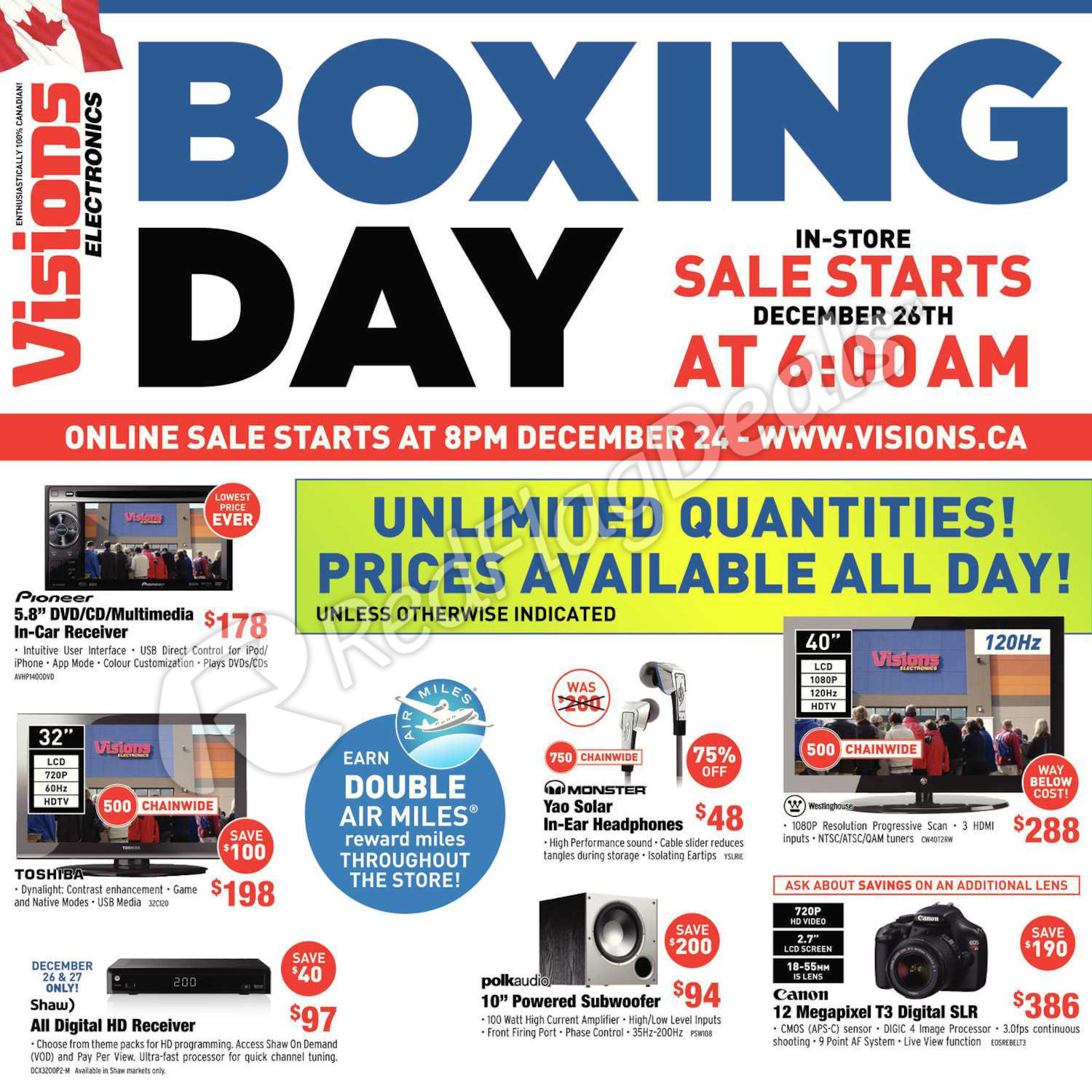 Visions Electronics Weekly Flyer - Boxing Day Sale - Dec 24