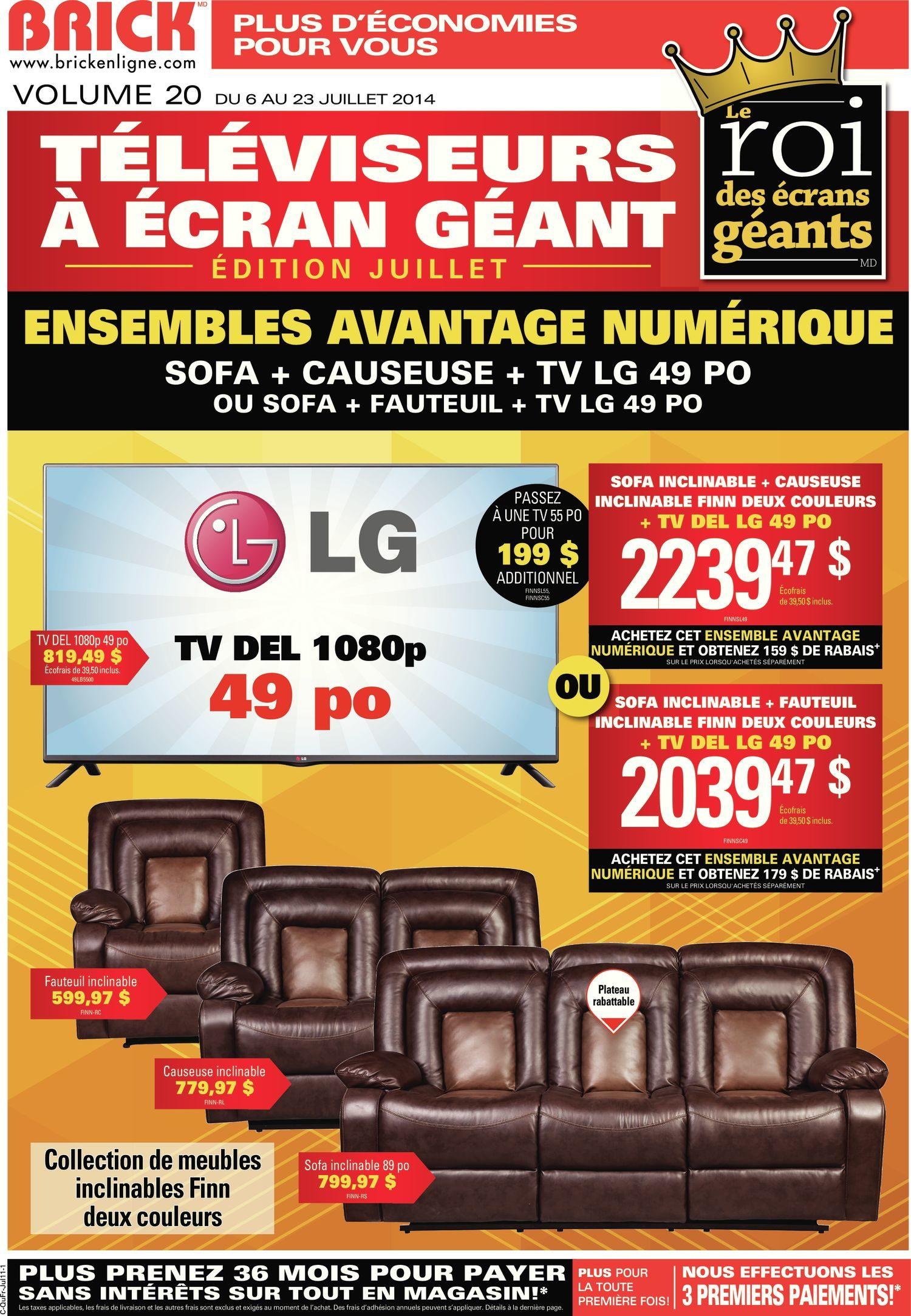 The Brick Weekly Flyer Le Roi Des Ecrans Geants Edition Juillet