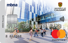 University of Calgary MBNA Rewards Mastercard® credit card
