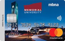 Memorial University MBNA Rewards Mastercard® credit card