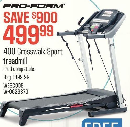 Sears Pro Form 400 Crosswalk Sport Treadmill Redflagdeals