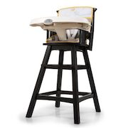 Sears Summer Infant Buffalo Check Reclining Wood High Chair