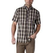 Windriver - Classic Fit Short-sleeve Canvas Patterned Shirt - $19.88