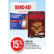 15% Off Band-Aid Bandages or 1st Aid Products