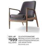 Enjoyable The Bay Glucksteinhome Norway Accent Chair With Walnut Squirreltailoven Fun Painted Chair Ideas Images Squirreltailovenorg