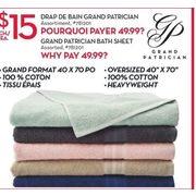 Grand Patrician Bath Sheet 15 00