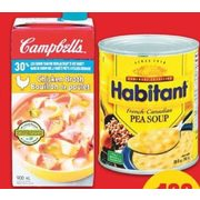 Campbell's Broth or Habitant Soup - $1.88