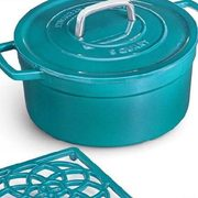 6 Quart Enamelled Cast Iron Dutch Oven with Bonus Cast Iron Trivet - $69.99
