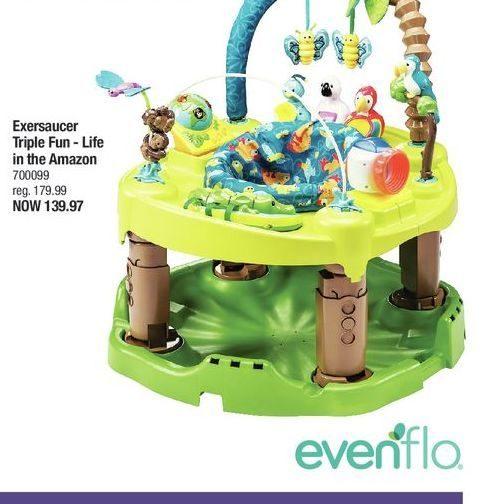 249702cbf Toys R Us  Evenflo Exersaucer Triple Fun - Life in the Amazon ...