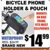 Bicycle Phone Holder & Pouch - $14.99