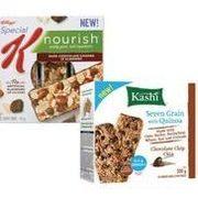 Foodland: Kashi Granola or Quinoa Bars or Kellogg's Special