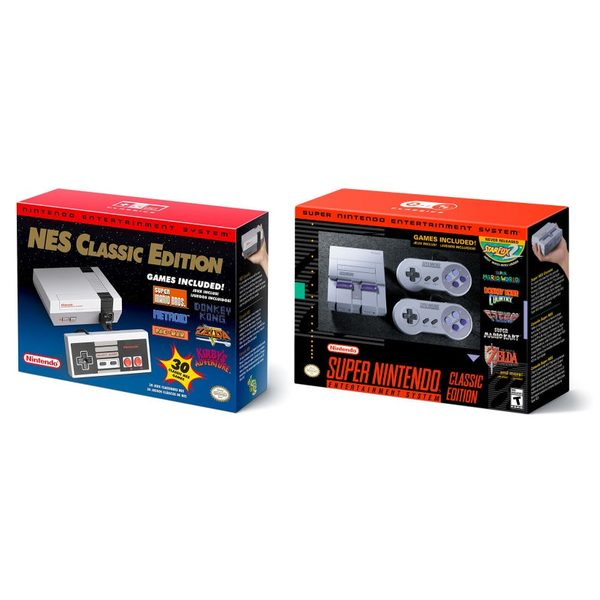 Amazon ca: Nintendo NES Classic Edition and Super NES Classic