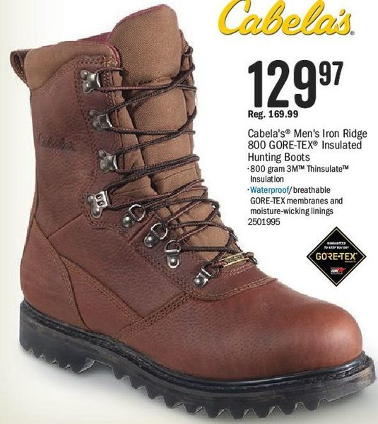 9f2ad104235 Bass Pro Shops: Cabela's Men's Iron Ridge 800 Gore-Tex Insulated ...