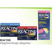 Apple Drugs: Reactine Allergy Extra Strength, Allergy/ Sinus