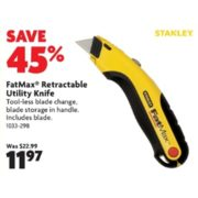 FatMax Retractable Utility Knife - $11.97 (45% Off)