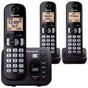 Panasonic 3 Cordless Expandable Handset Phones with Answering Machine - $49.98
