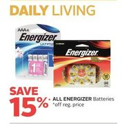 Al Energizer Batteries - 15% off