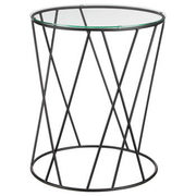 Metal Wire And Glass Side Table - $59.99 ($90.00 Off)