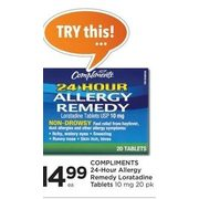 Compliments 24-Hour Allergy Remedy Loratadine Tablets 10 Mg  - $14.99