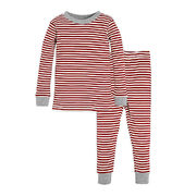 Burt's Bees Baby® 2-piece Candy Cane Stripe Holiday Pajama Set In Red/ivory - $16.09 ($6.90 Off)
