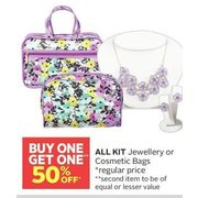 All Kit Jewellery Or Cosmetic Bags - BOGO 50% off
