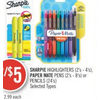 Sharpie Highlighters, Paper Mate Pens or Pencils - 2/$5.00