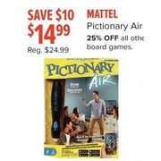 Mattel Pictionary Air - $14.99 ($10.00 off)