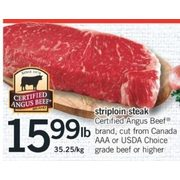 Striploin Steak - $15.99/lb