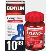 Tylenol Cold, Caplets, Syrup EZtab/Caplet Benylin All In One Caplets, Syrup, Vicks DayQuil/NyQuil Complete Liquicaps or Syrup - $1
