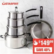 10 Pc. Starfrit Classic Cookware Set  - $149.99 (40% off)