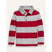 Striped Long-sleeve Polo For Toddler Boys - $7.40 ($7.59 Off)