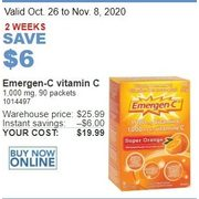 Emergen-C Vitamin C - $19.99 ($6.00 off)