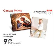 "8"" x 8"" Canvas Prints - Starting at $9.99 (Up to 50% off)"