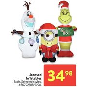 Licensed Inflatables - $34.98